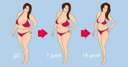 Похудение за 2 недели на 7 кг
