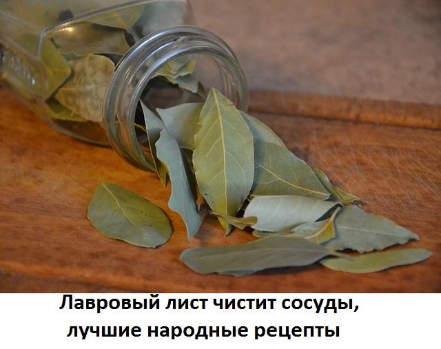 Для чистки сосудов из лаврового листа