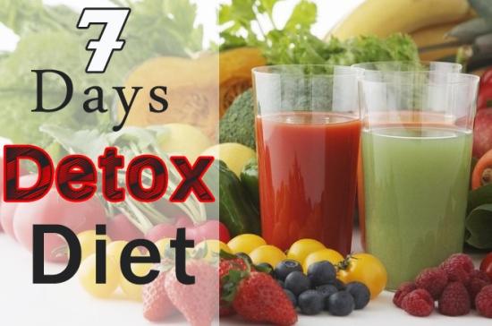 детокс-диета 7 дней для похудения