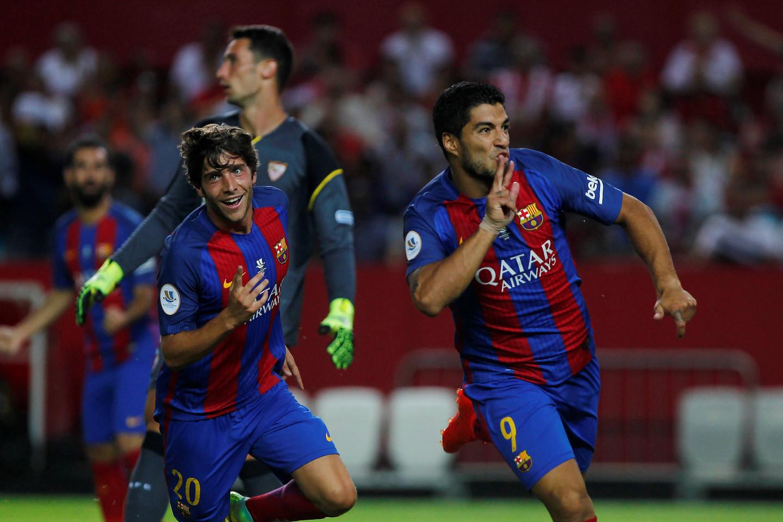 Месси забил. «Барселона» разгромила «Севилью» изавоевала Суперкубок Испании