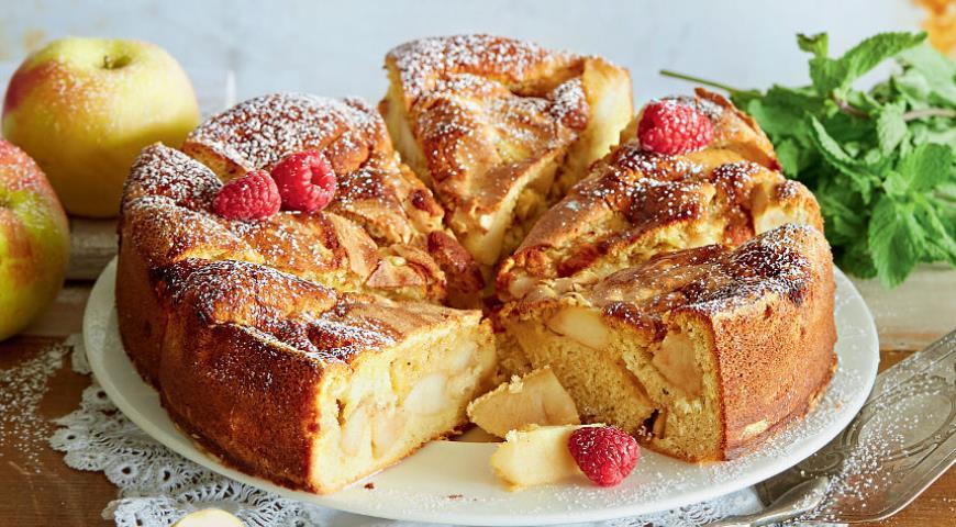 шарлотка с яблоками рецепт с калориями