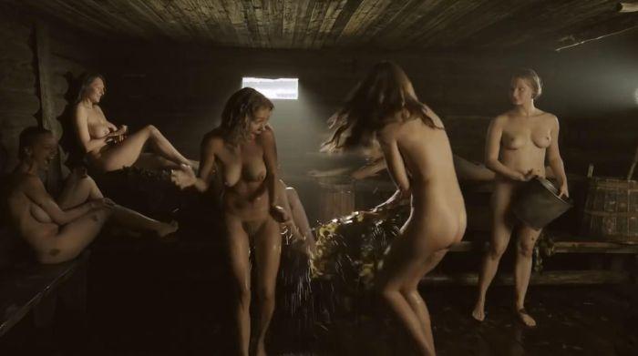 Kristina lokan naked in sauna