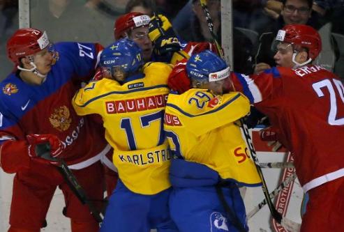Молодежная сборная РФ похоккею обыграла датчан вконтрольном матче