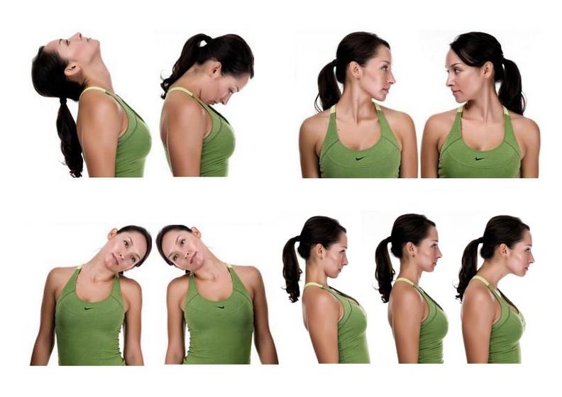 Упражнения при шейном остеохондрозе - выполнение в домашних ...