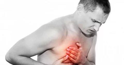 Боль слева над грудью
