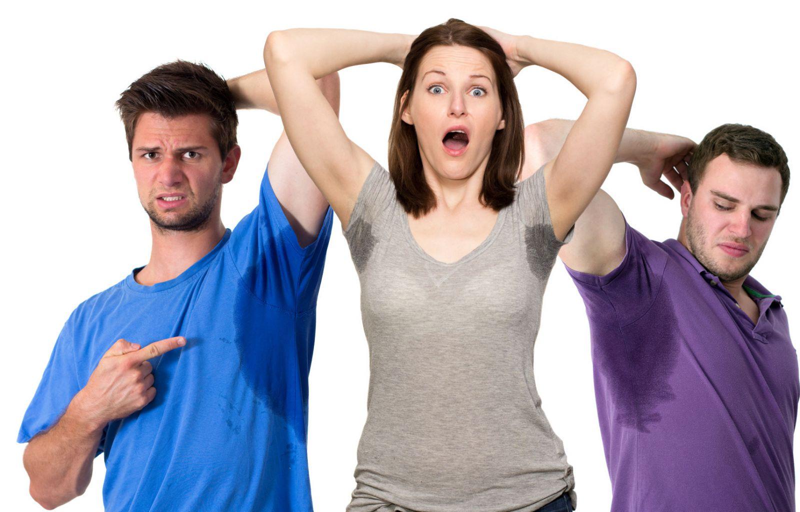 Почему сильно потеют подмышки у женщин и мужчин