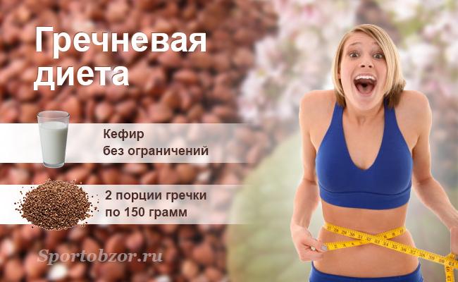 Худеем легко гречневой диетой