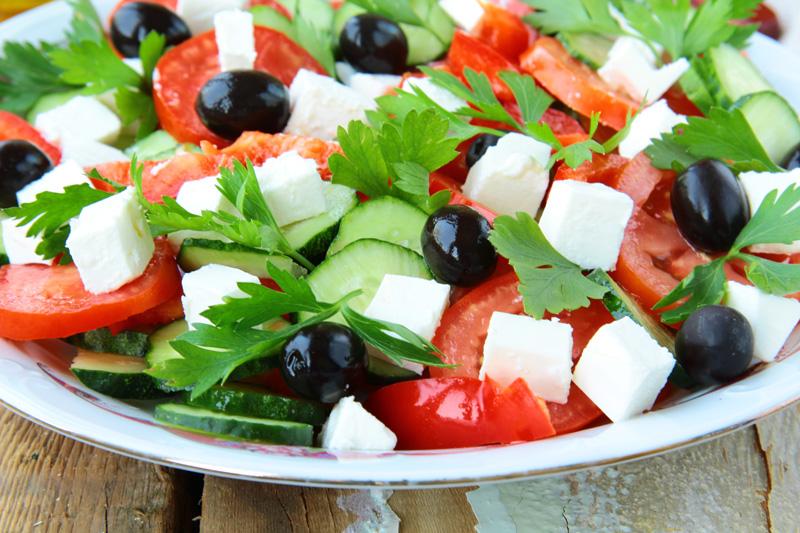 Салат греческий рецепт кбжу