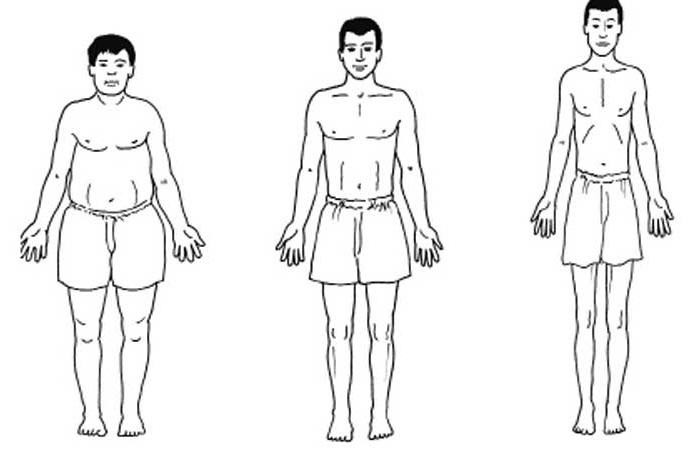 Соотношение роста и веса у мужчин ? – таблица